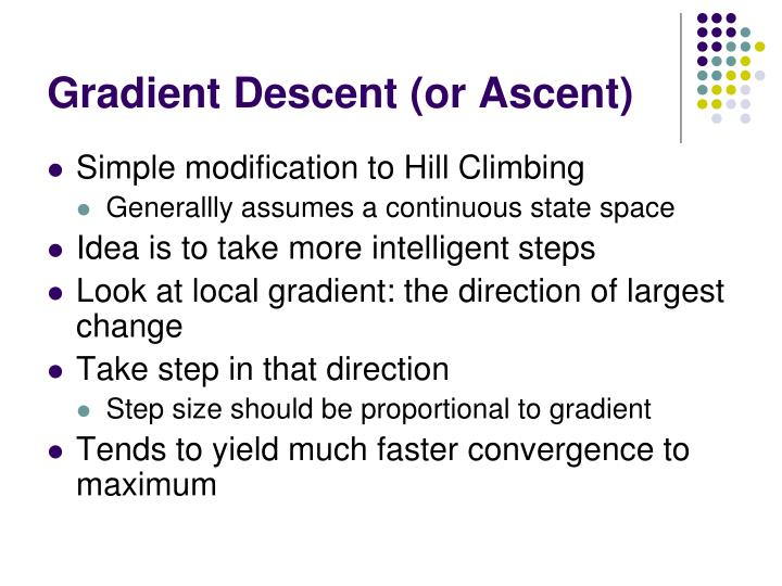 Gradient Descent (or Ascent)