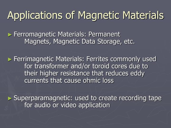 Applications of Magnetic Materials