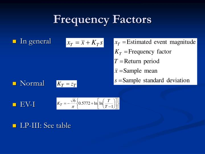 Frequency Factors
