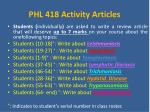 phl 418 activity articles