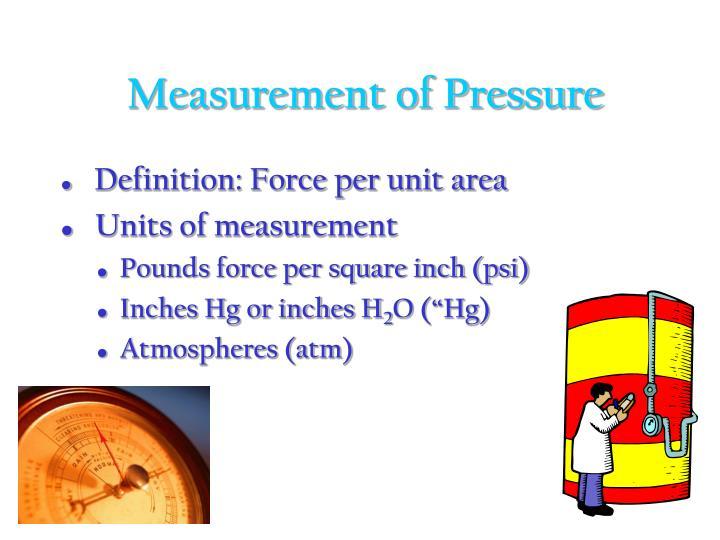 Measurement of Pressure