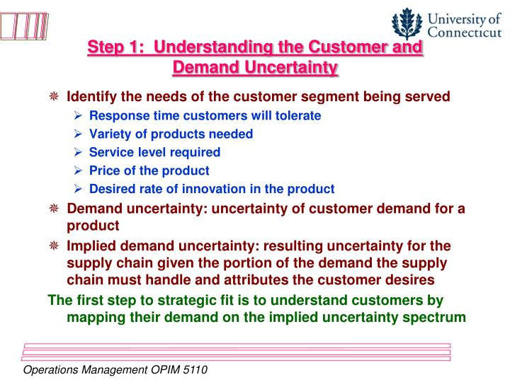 Step 1:  Understanding the Customer and