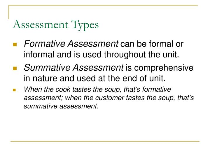 Assessment Types