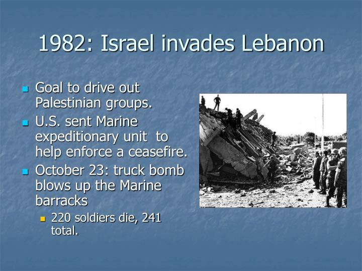 1982: Israel invades Lebanon