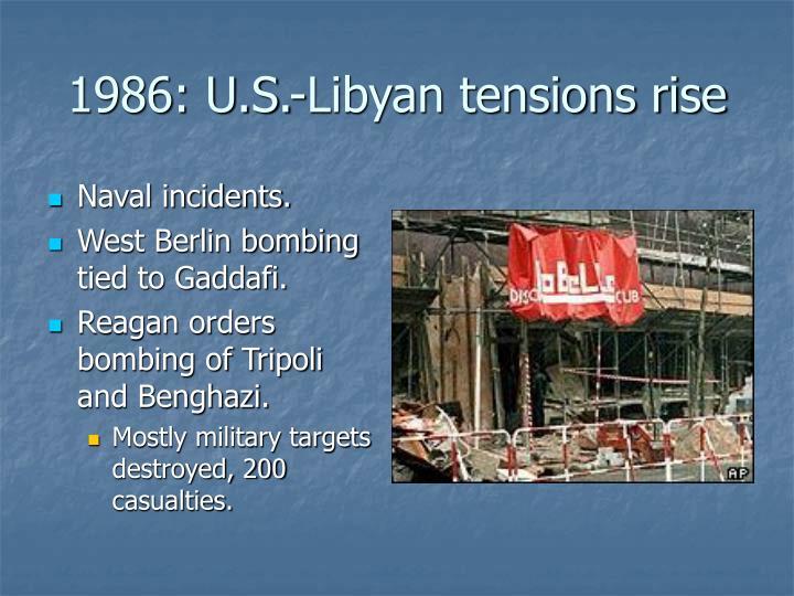 1986: U.S.-Libyan tensions rise