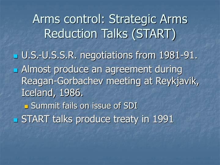 Arms control: Strategic Arms Reduction Talks (START)