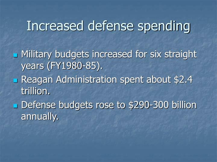 Increased defense spending
