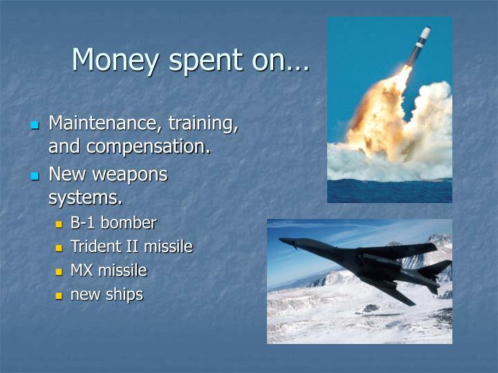 Money spent on…