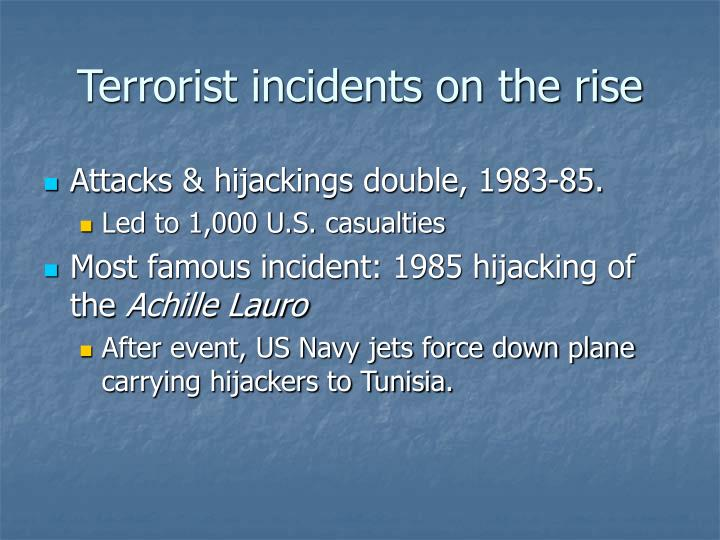 Terrorist incidents on the rise
