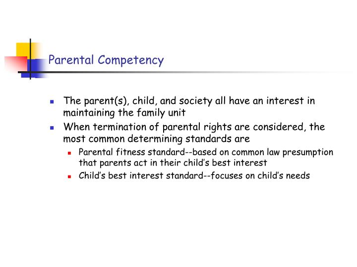 Parental Competency