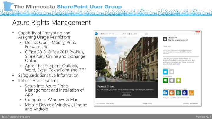 Azure Rights Management