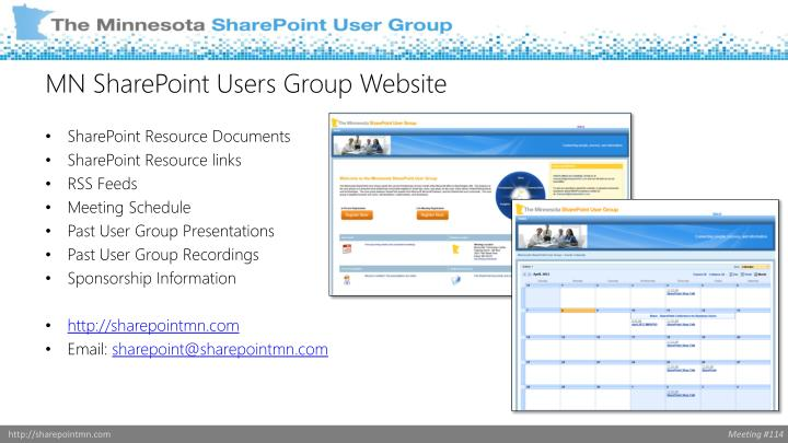 MN SharePoint Users Group Website