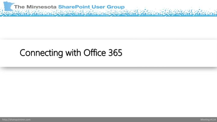Connecting with Office 365