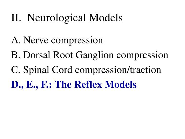 Ii neurological models