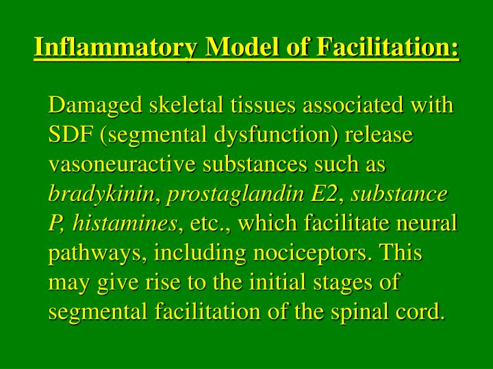 Inflammatory Model of Facilitation: