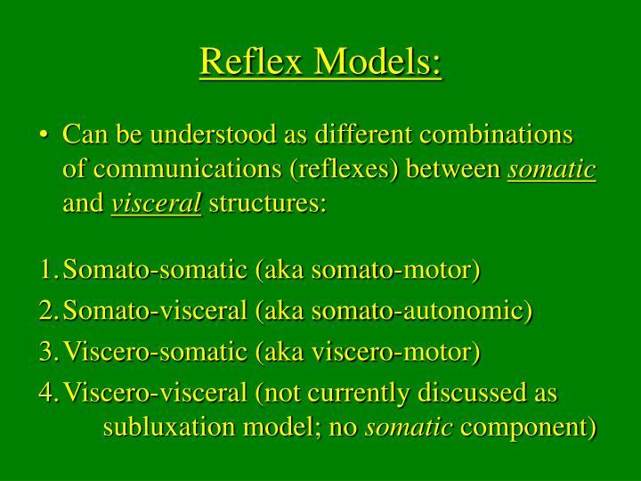 Reflex Models: