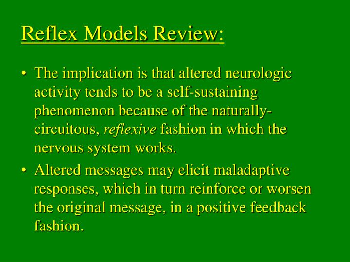 Reflex Models Review