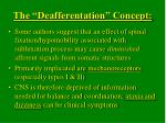 the deafferentation concept