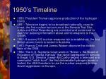 1950 s timeline