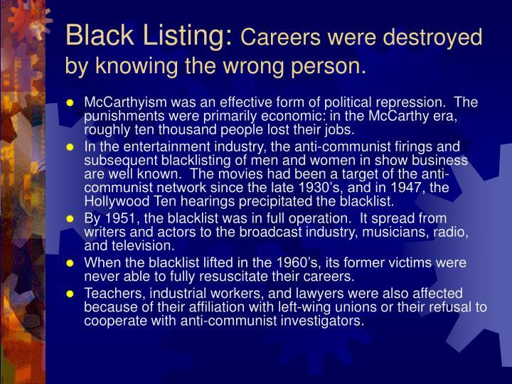 Black Listing: