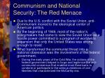 communism and national security the red menace