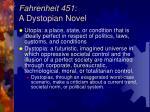 fahrenheit 451 a dystopian novel