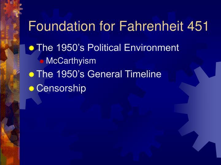 Foundation for Fahrenheit 451