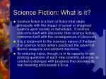 science fiction what is it