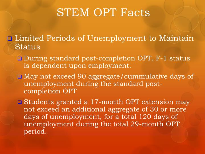 STEM OPT Facts