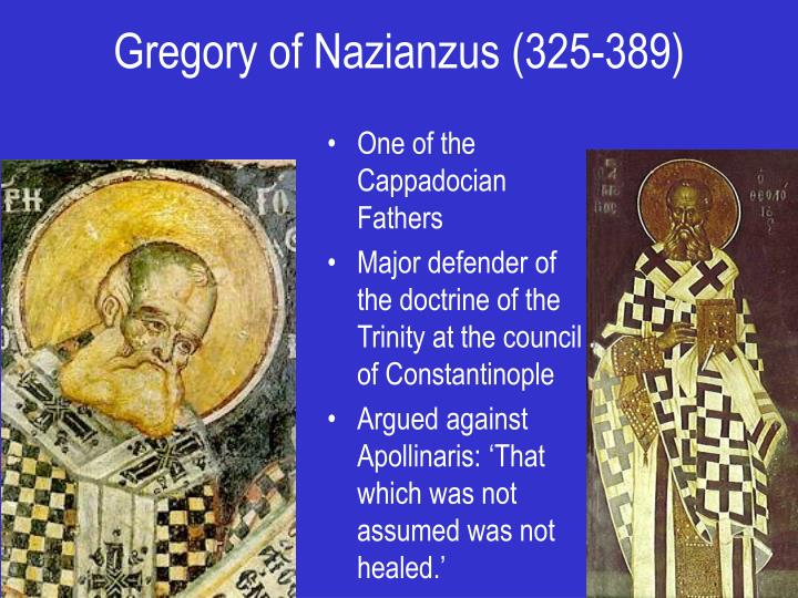 Gregory of Nazianzus (325-389)