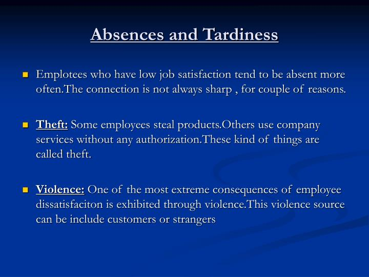 Absences and Tardiness