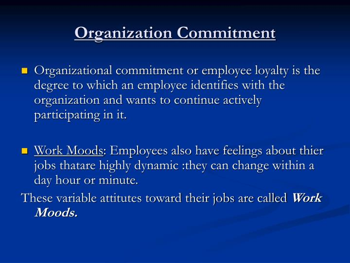 Organization Commitment