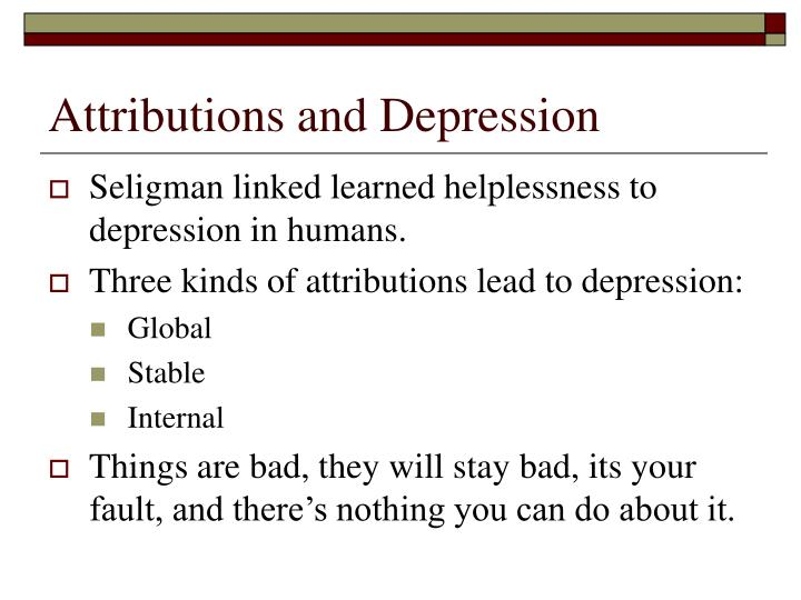 Attributions and Depression