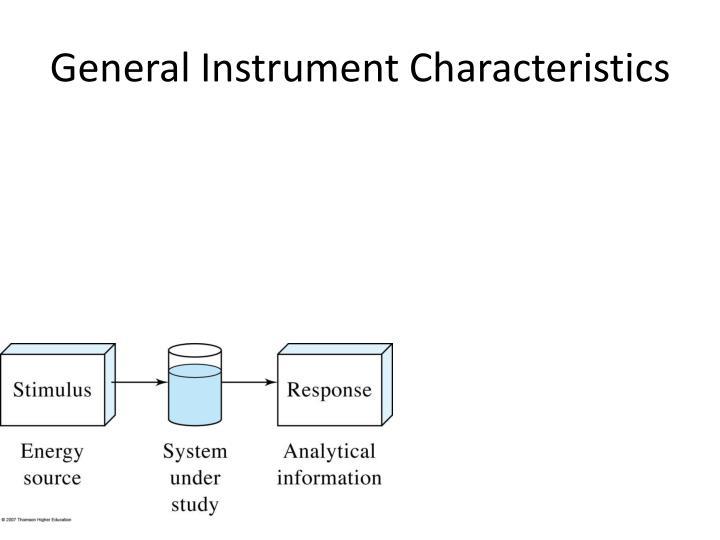 General Instrument Characteristics