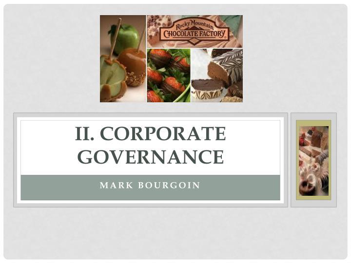 II. Corporate Governance