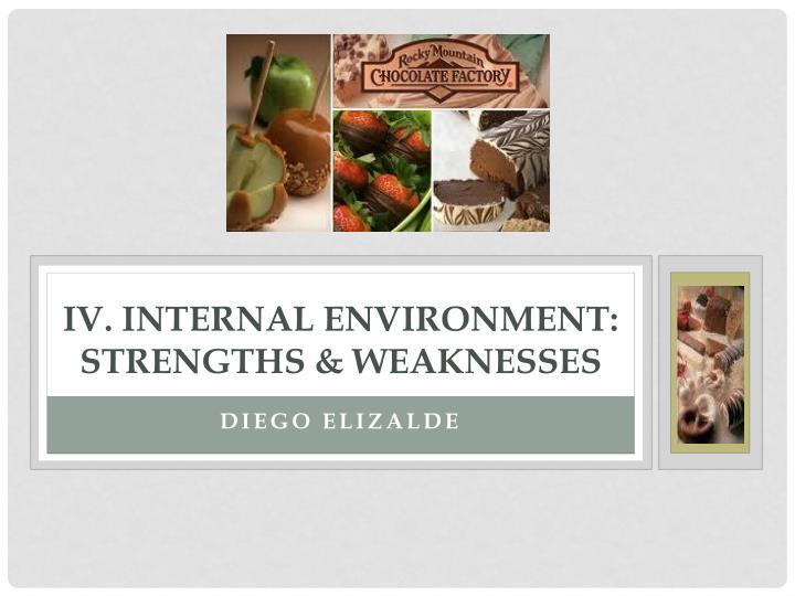 IV. Internal Environment: Strengths & Weaknesses