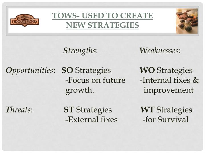 TOWS- used to create
