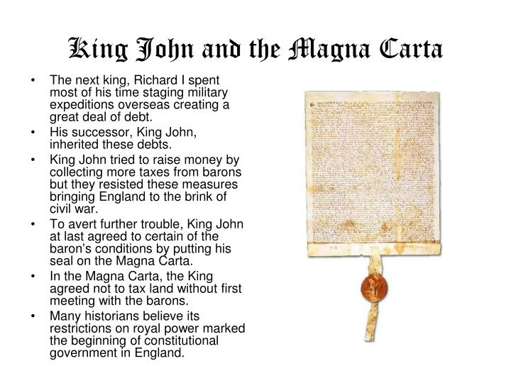 King John and the Magna Carta