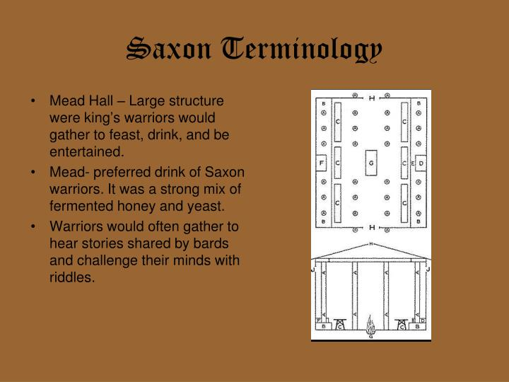 Saxon Terminology