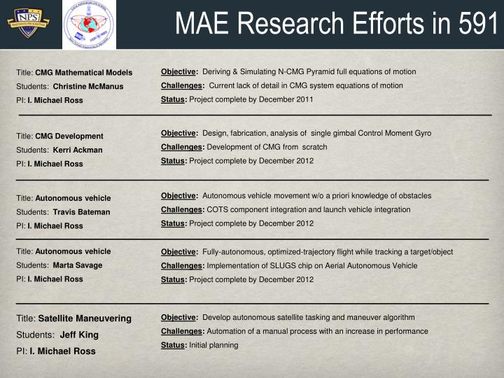MAE Research