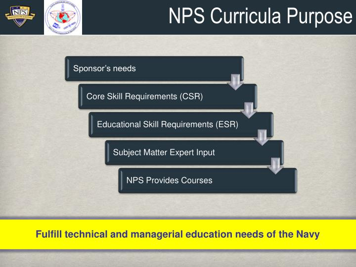 Nps curricula purpose