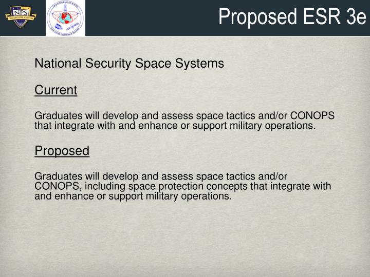Proposed ESR 3e