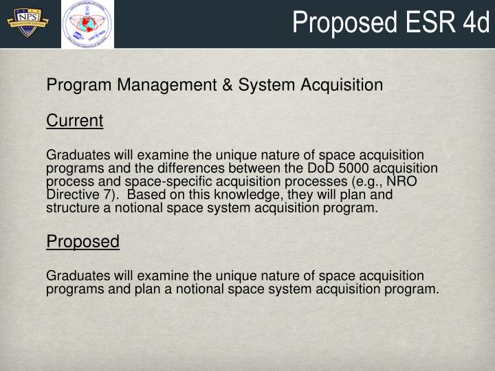 Proposed ESR 4d