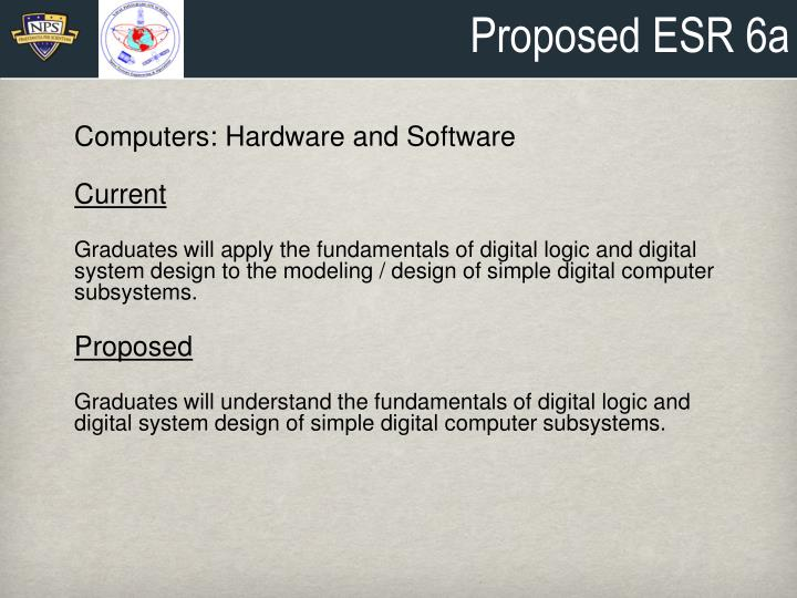 Proposed ESR 6a