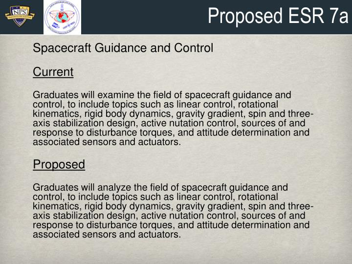 Proposed ESR