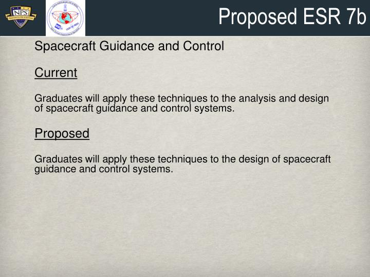 Proposed ESR 7b