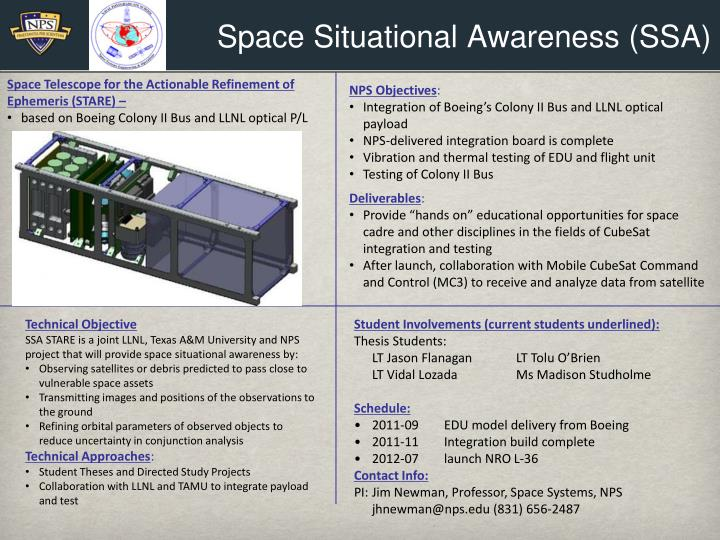 Space Situational Awareness (SSA)