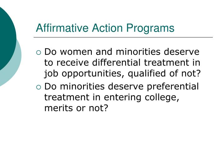 Affirmative Action Programs