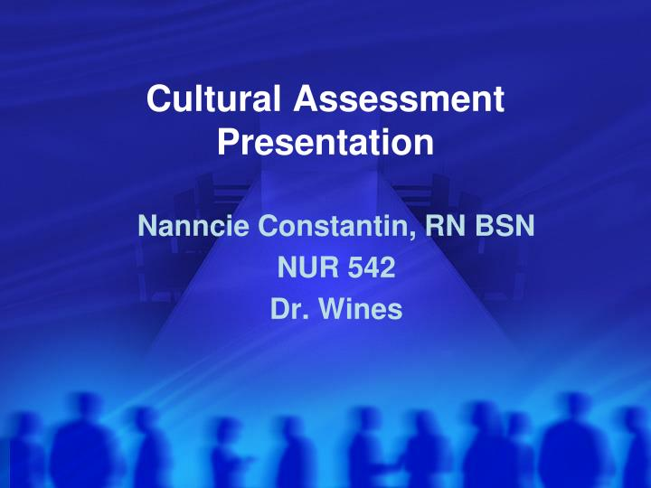 cultural assessment presentation Cultural features of the relationship between the individual and the clinician and overall cultural assessment clinical case formulation (from any chosen theoretical orientation) your ideas about how the patient has developed difficulties and what supports maladaptive patterns.