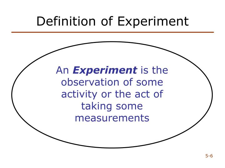 Definition of Experiment